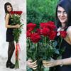 Букет из 11 красных длинных роз фото