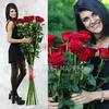 Букет из 21 красных длинных роз фото