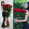 Букет из 51 красных длинных роз фото
