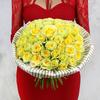 Букет из 51 желтых роз фото