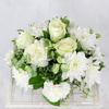 Композиция из роз, гвоздик и хризантем фото