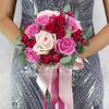 Букет из роз, лаванды и эвкалипта фото