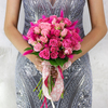Букет из роз, салала и лагуруса фото