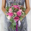 Букет из роз, фрезий и гвоздик фото