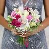 Букет из орхидей, роз и альстромерий фото