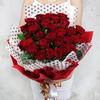 Букет из 33 красных роз фото