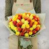 Букет из 51 желтых кенийских роз фото