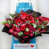 Букет из роз, анемон и тюльпанов - Кармен фото