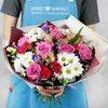 Букет из роз и хризантем фото