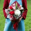 Букет из роз и лилии фото
