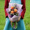 Букет из роз и хризантемы фото