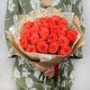 Букет из 21 оранжевой розы фото